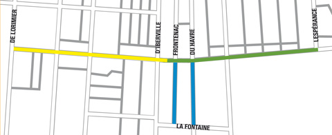 Étape d'intervention des travaux