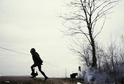 Elena Perlino, Joy sortant de la forêt, Turin (Italie), 2006, tirage numérique, impression Fine Art texturé, 50 x 60 cm