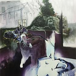 Spectre 4, 2016, acrylique et crayon de plomb sur papier BFK Rives, 40,5 cm X 51 cm. Crédit : Jérémie St-Pierre