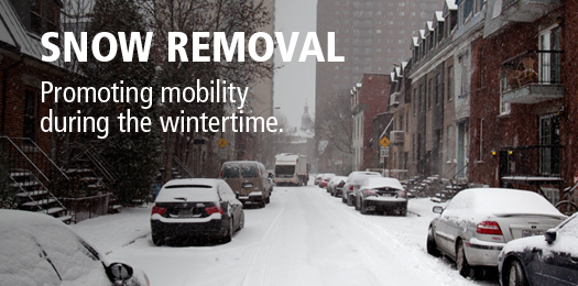 Snow removal - Promoting mobility during wintertime