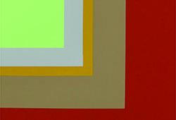 Brigitte Radecki, Panneaux mureaux-printemps (détail) 2015, acrylique sur toile, 120 X 120 cm