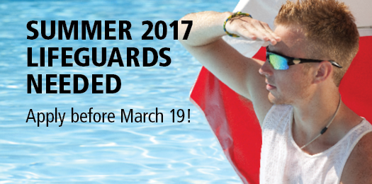 Summer 2017 - Lifeguards needed, apply before March 19