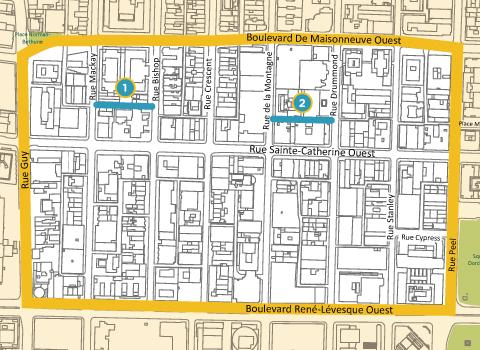 Carte des ruelles aménagées