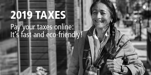 Pay your taxes online through your financial institution
