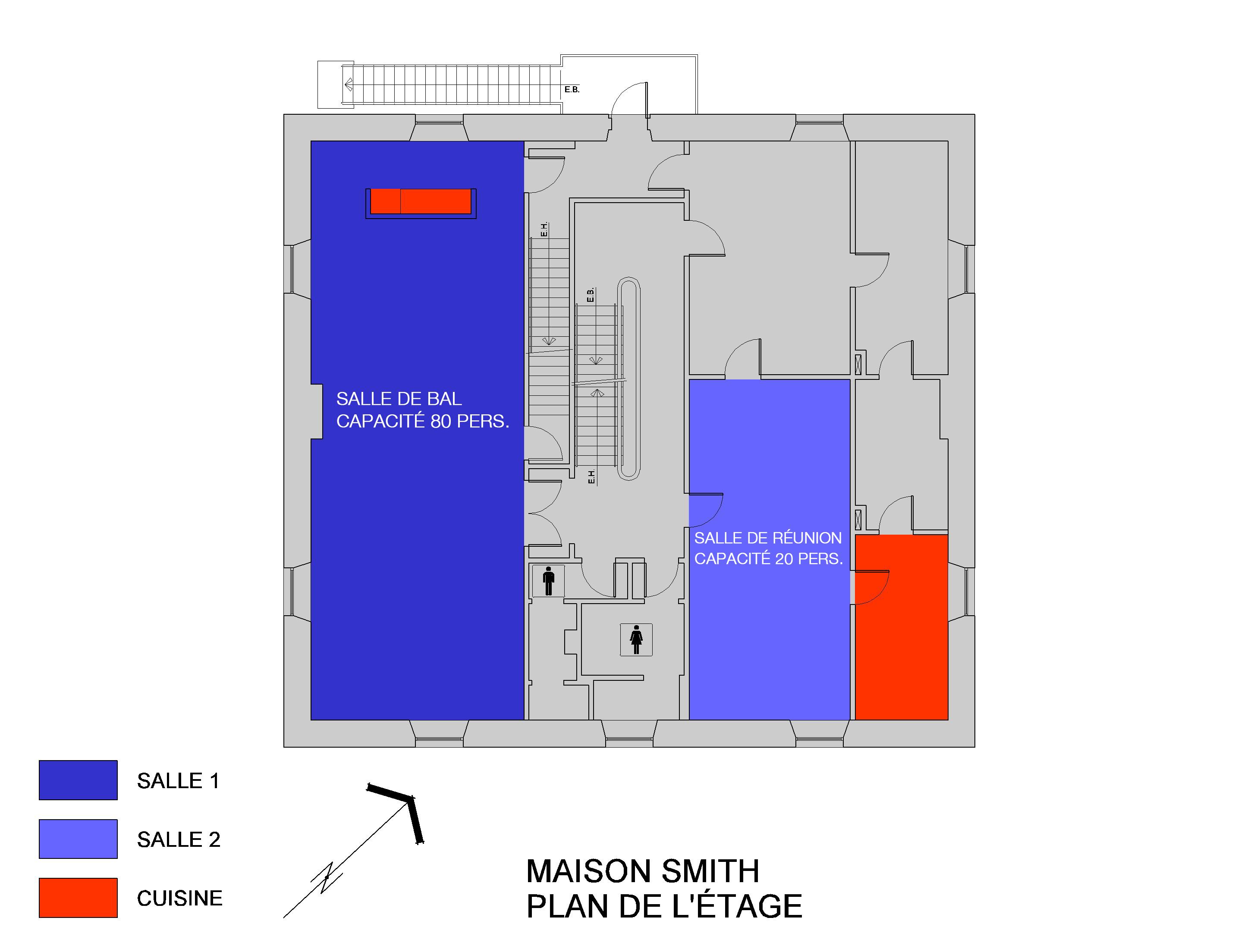 Plan général des salles