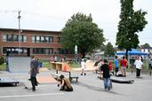 Skate park situé dans l'arrondissement d'Anjou