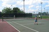 Terrain de tennis dans l'arrondissement d'Anjou