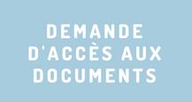 Demande d'accès aux documents