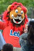 Léo, la mascotte de l'arrondissement de Saint-Léonard