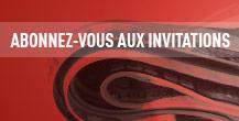 Abonnez-vous aux invitations