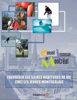 Couverture de l'avis sur les saines habitudes de vie chez les jeunes Montréalais.