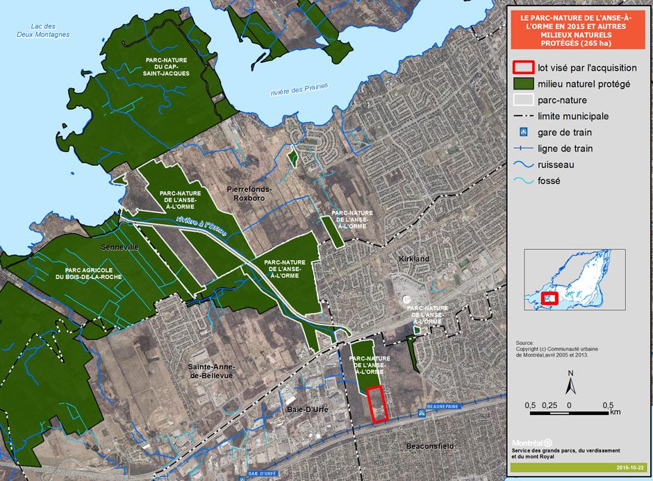 Ville de montr al r seau des grands parcs corridor for Espace vert quebec