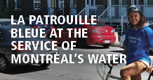 La patrouille bleue at the service of Montréal's water