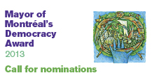 Mayor of Montr�al's Democracy Award