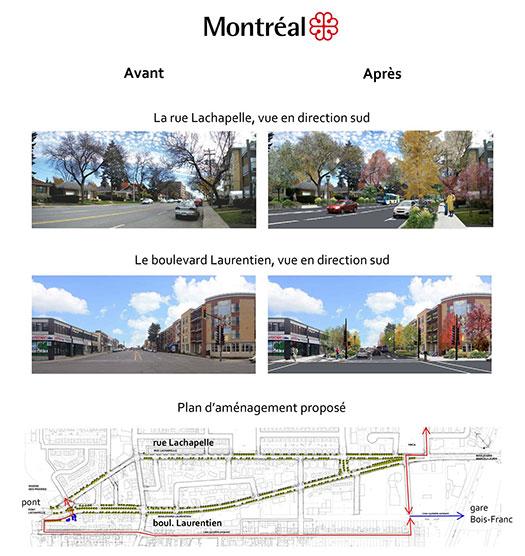 Boulevard Laurentien et rue Lachapelle