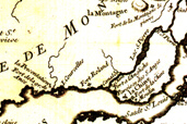 Plan ancien de Lachine, 1744
