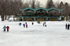 Skating rink at Beaver Lake.