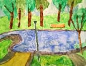 Dessin d'Annie Bourrassa, Parc du Mont-Royal