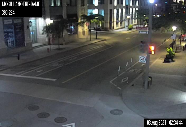 Image en direct pour la caméra Rue McGill et rue Notre-Dame