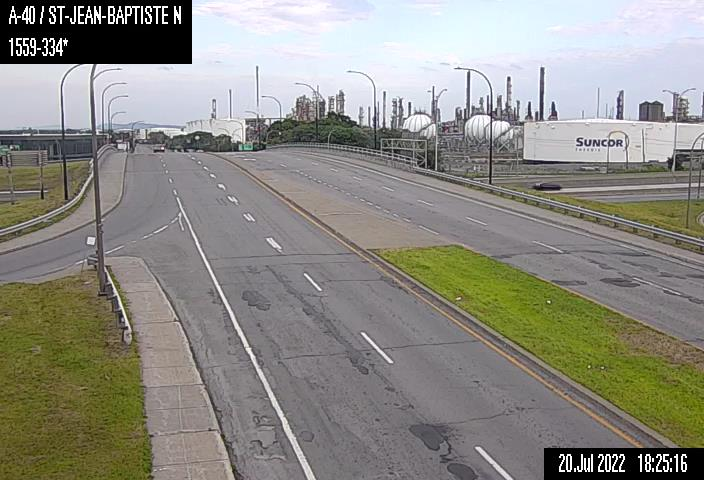 Image en direct pour la caméra Autoroute 40 et boulevard Saint-Jean-Baptiste (inter. nord)