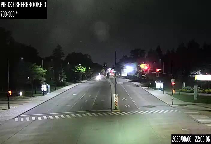 Image en direct pour la caméra Boulevard Pie-IX et rue Sherbrooke (inter. sud)
