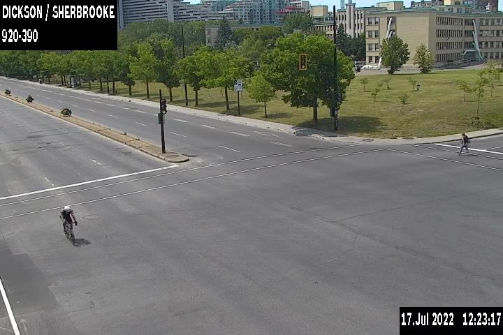 Image en direct pour la caméra Rue Dickson et rue Sherbrooke