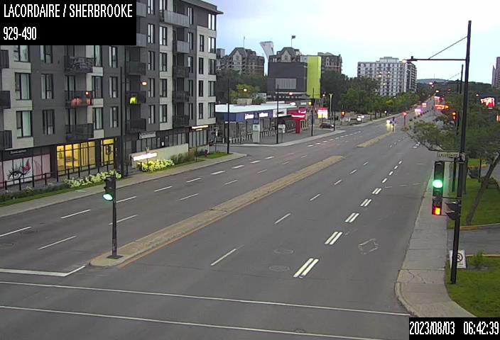 Image en direct pour la caméra Rue Lacordaire et rue Sherbrooke