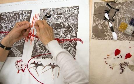 1.Broderie - introduction aux arts textiles au CCGV_ 2015