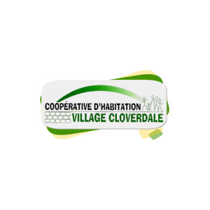 Logo - Village Cloverdale housing cooperative (in French)