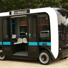 Olli, autonomous minibus printed in 3D that talks to its passengers