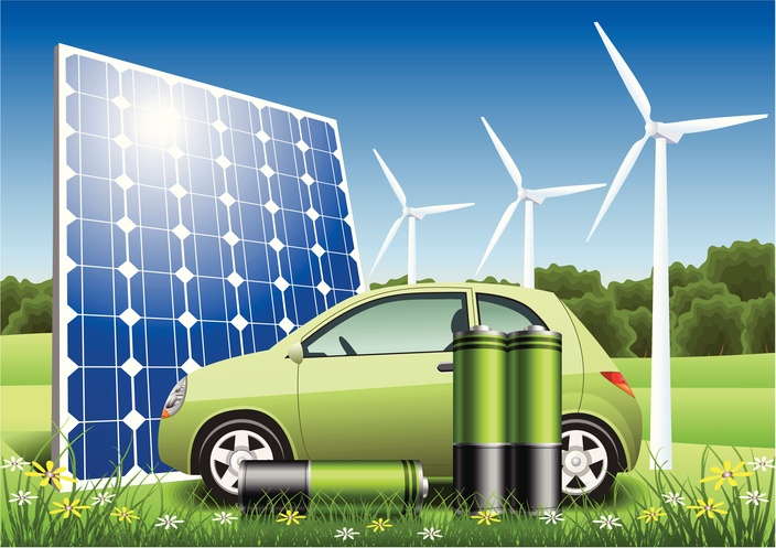 Green Energy Vehicle. It is abstract car. Zip includes CDR, AI and high-res JPEG files.