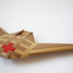A biodegradable delivery drone