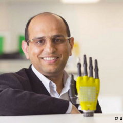 Solar powered skin for prosthetic limbs
