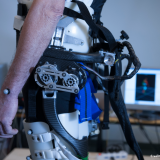 A powered exoskeleton prevents the elderly from falling
