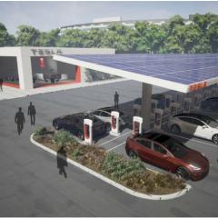 Tesla urban superchargers to democratize electric car