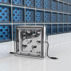 This glass brick is a solar panel
