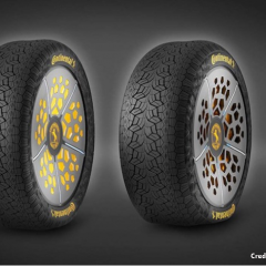 This connected tire can change pressure based on weather