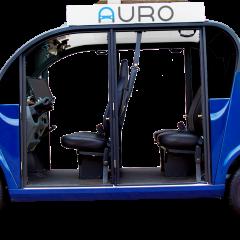 Une navette autonome dans un campus à l'Université de Santa Clara