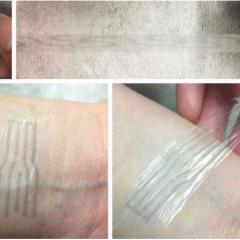 Un tissu élastique capable de conduire l'électricité
