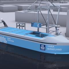 Le premier cargo 100 % électrique et autonome au monde