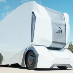 Une semi-remorque sans chauffeur pour le transport intelligent des marchandises