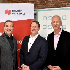 La Banque Nationale verse un million de dollars à OSMO dans le cadre d'un partenariat visant à soutenir l'écosystème montréalais des entreprises en démarrage