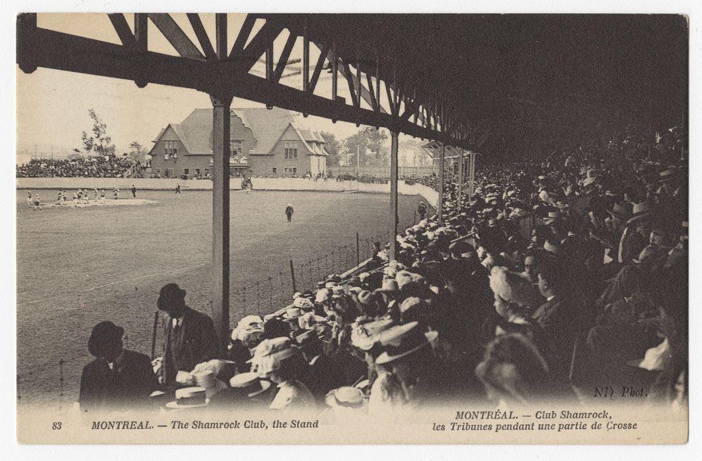 À l'est de la rue Saint-Laurent, où se trouve l'actuel Marché Jean-Talon, le club irlandais Shamrock possède un stade de crosse qui peut accueillir quelque 7000 spectateurs.