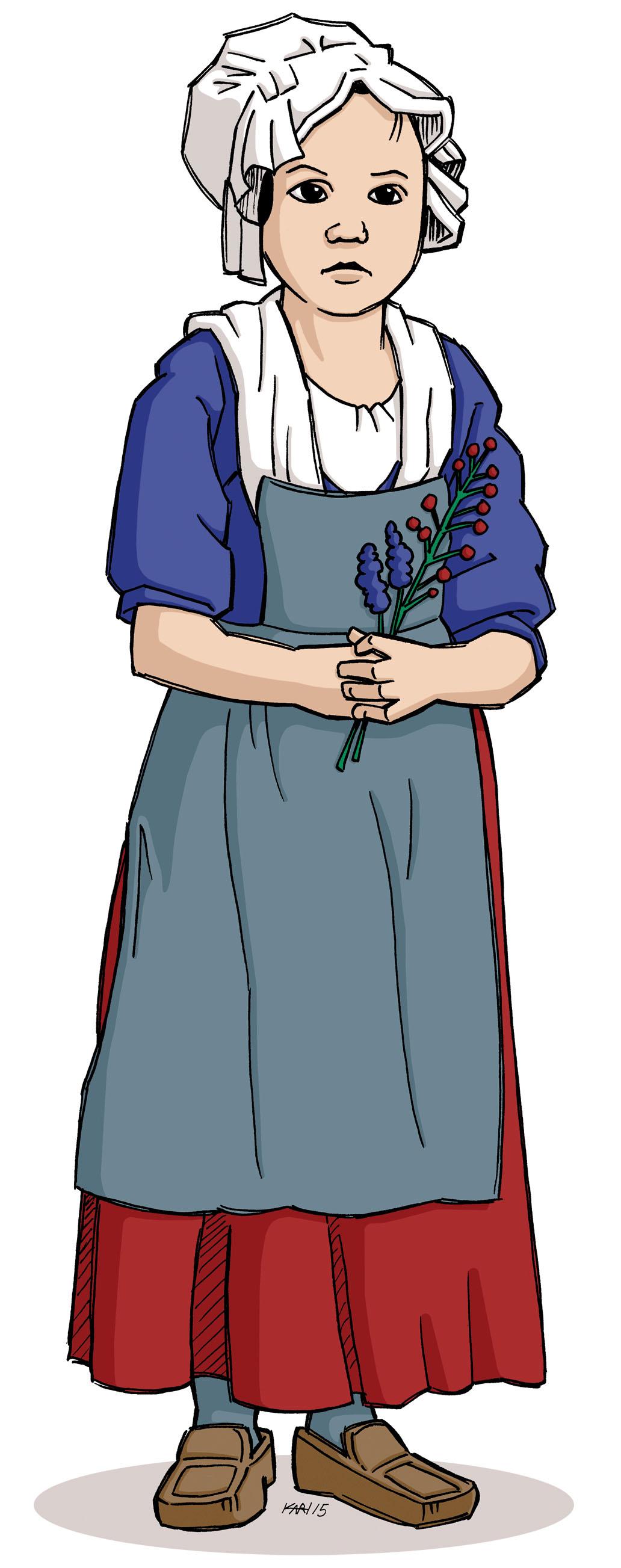 Illustration de la petite Amable Lemoine Monière