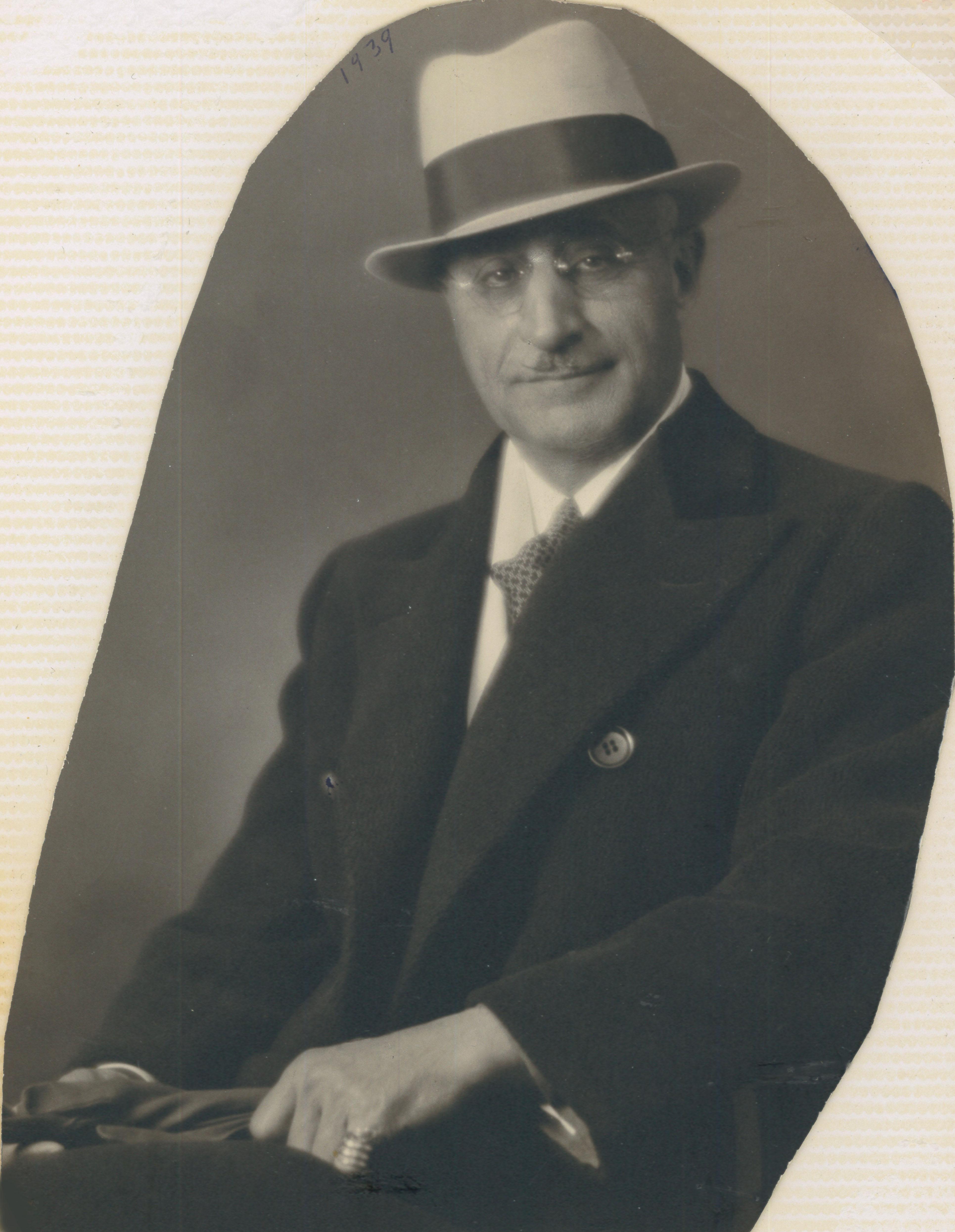 Portrait taille de Georges Farah-Lajoie vers la fin de sa vie