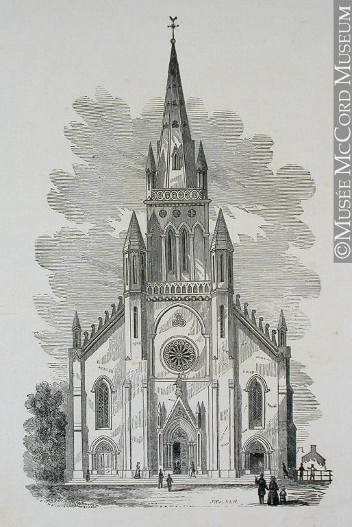 Gravure de l'église Saint-Patrick.