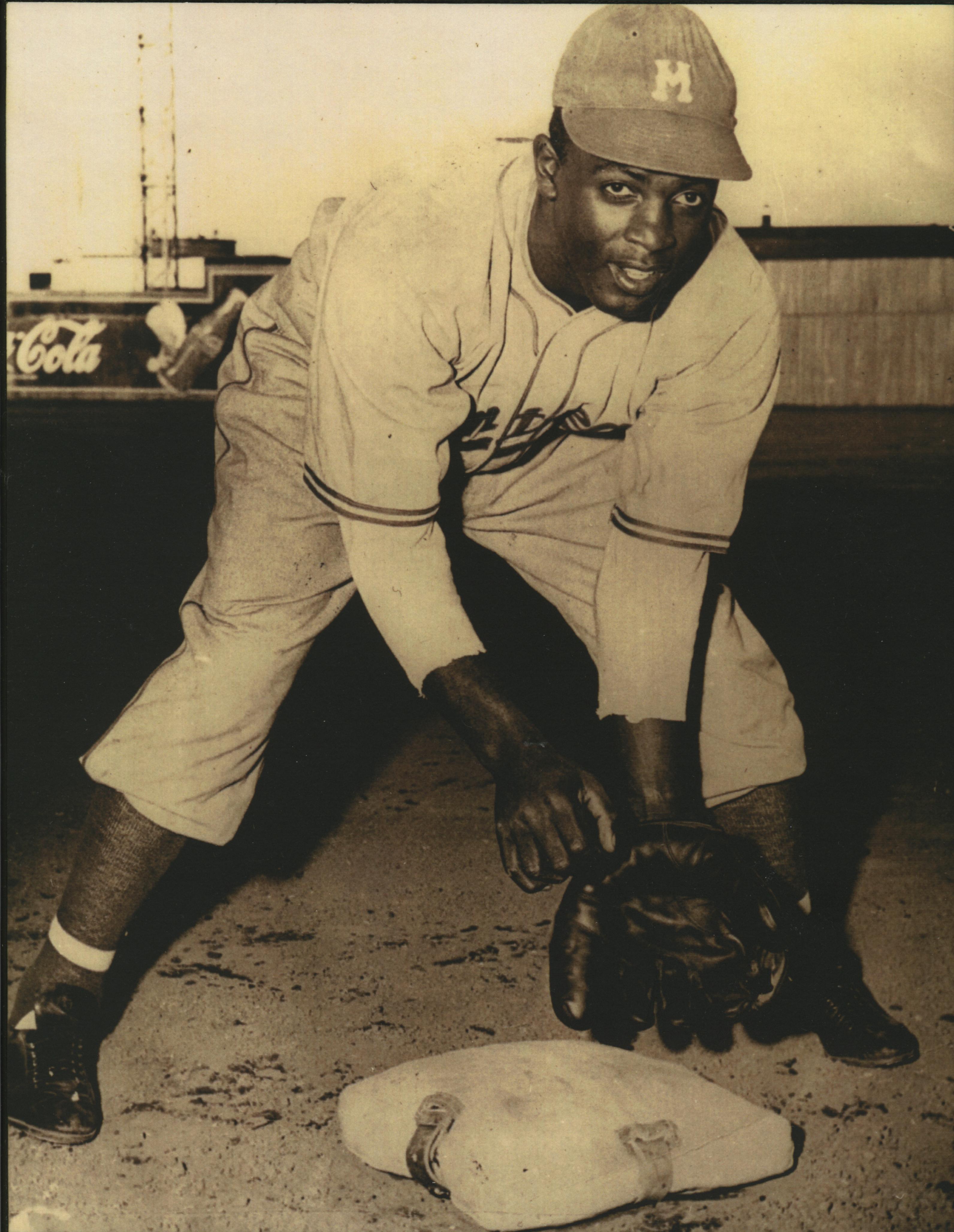 Jackie Robinson lors de sa première saison dans le baseball majeur avec les Royaux de Montréal en 1946.