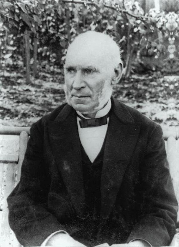 Portrait noir et blanc du fondateur Henry Morgan