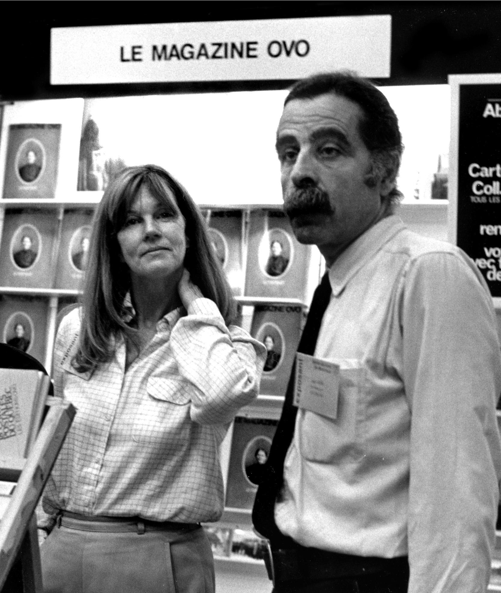 Photo de Jorge Guerra et Denyse Gérin-Lajoie au salon du livre pour Le Magazine OVO