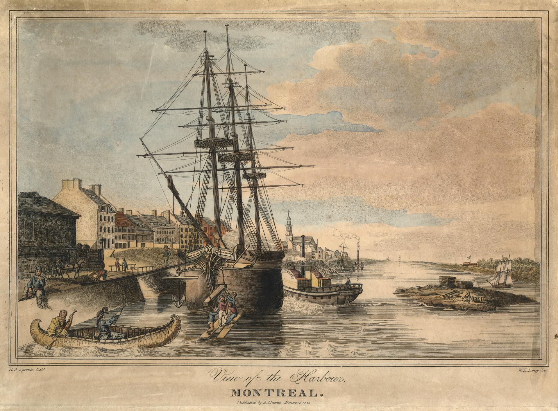 Aquarelle du port en 1830